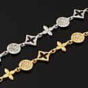 abordables Bracelets-Femme Cristal Chaînes & Bracelets - Cristal, Strass, Platiné Bracelet Argent / Doré Pour Regalos de Navidad / Mariage / Soirée / Plaqué or