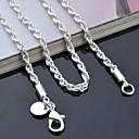 hesapli Kolyeler-Kadın's Zincir Kolyeler - 20, 22, 24 Kolyeler Mücevher Uyumluluk Günlük