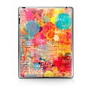 hesapli iPad Stickerları-1 parça Arka Koruyucu için Renkli Gradyan iPad 2 iPad 3 iPad 4