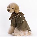 preiswerte Bekleidung & Accessoires für Hunde-Hund Mäntel Hundekleidung warm halten Modisch Solide Braun Kostüm Für Haustiere