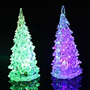 cheap LED Novelty Lights-1pc Christmas tree LED Night Light Batteries Powered Waterproof / RGB