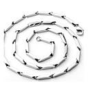 abordables Collar Hombre-Hombre Collares de cadena Cadenas Collar Acero inoxidable Casual Estilo Simple Moda Plata Gargantillas Joyas Para Regalo