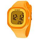 저렴한 여성용 시계-여성용 석영 디지털 디지털 시계 손목 시계 드레스 시계 캐쥬얼 시계 실리콘 밴드 멋진 오렌지