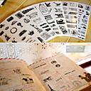 baratos Suprimentos para Scrapbook-6 Plástico Escritório / Carreira Adesivos