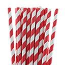 tanie Zastawa stołowa na imprezy-27 kolorów Ekologiczne papierowe paski słomki słomki do picia na Halloween papieru christmas party pitnej (25 szt)