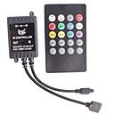 hesapli Anahtarlar & Soketler-Rgb uzaktan kumanda ile 2a 3-kanallı akıllı müzik ir denetleyici şerit led ışık (DC 12 ~ 24v)