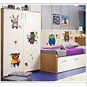 hesapli Ev Dekorasyonu-Hayvanlar Duvar Etiketler Hayvan Duvar Çıkartmaları Buzdolabı Çıkartmaları, Vinil Ev dekorasyonu Duvar Çıkartması Duvar