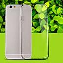 preiswerte iPhone Hüllen-Hülle Für Apple iPhone 6 Plus / iPhone 6 Transparent Rückseite Solide Weich TPU für iPhone 6s Plus / iPhone 6s / iPhone 6 Plus