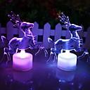 رخيصةأون تزيين المنزل-عيد الميلاد الرنة الاكريليك الملونة شمعة أدت
