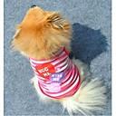 preiswerte Bekleidung & Accessoires für Hunde-Katze Hund T-shirt Hundekleidung Streifen Herz Purpur Rosa Baumwolle Kostüm Für Haustiere Herrn Damen Modisch