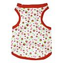preiswerte Bekleidung & Accessoires für Hunde-Katze Hund T-shirt Hundekleidung Frucht Rot Baumwolle Kostüm Für Haustiere