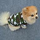 hesapli Meyve ve Sebze Araçları-Köpek Tişört Köpek Giyimi kamuflaj Yeşil Pamuk Kostüm Evcil hayvanlar için Erkek Kadın's Moda