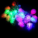 preiswerte Ausgefallene LED-Lichter-1 stück 2 w led perlen tauchen led wasserdicht / party / dekorative rgb 220 v schöne pinienkerne string lichter