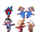 preiswerte Marionetten und Handpuppen-Schaf Marionetten Niedlich Spaß lieblich Textil Plüsch Mädchen Spielzeuge Geschenk 6 pcs