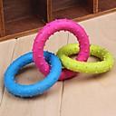 hesapli Kolyeler-hayvan köpekler için üç farklı renk döngü şeklinde kauçuk çiğnemek oyuncaklar