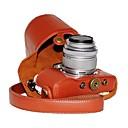 preiswerte LED Autobirnen-dengpin® PU-Leder Litschi Muster Kameratasche für Olympus PEN E-PL7 mit 17mm / 14-42 mm Objektiv