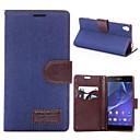 Χαμηλού Κόστους Θήκες / Καλύμματα Samsung Tab Series-tok Για Sony Xperia Z3 Sony Xperia Z3 Θήκη Sony Θήκη καρτών με βάση στήριξης Ανοιγόμενη Πλήρης Θήκη Συμπαγές Χρώμα Σκληρή PU δέρμα για