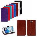 hesapli Galaxy Note Serisi Kılıfları / Kapakları-Pouzdro Uyumluluk Samsung Galaxy Samsung Galaxy Note Kart Tutucu Satandlı Flip Tam Kaplama Kılıf Tek Renk PU Deri için Note 2
