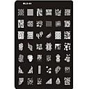baratos Acessórios & Roupas para Cachorros-adorável da arte do prego carimbar placas de imagem nail art modelo prego stencil no.4