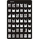 ieftine Jucării Câini-MetalPistol Pentru deget deget de la picior Încântător nail art pedichiura si manichiura Abstract / Clasic / Desen animat Zilnic / ștampilare Placă