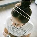 baratos Jóias de cabelo-Mulheres Casual Fashion Elegante Tecido Plástico Bandanas Casamento Festa