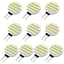 cheap Home Decoration-10pcs 1.5 W 118 lm G4 LED Bi-pin Lights 24 LED Beads SMD 3528 Warm White / Cold White 12 V / RoHS