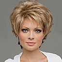 cheap Makeup & Nail Care-capless mix color extra short high quality natural curly hair synthetic wig with side bang