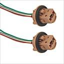 hesapli LED Araba Ampulleri-7443 soket araba ampul tutucu adaptörü - 2adet