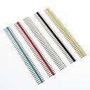 hesapli USB Kabloları-çok renkli 40-pin 2.54mm Saha pin başlıkları (10 adet)