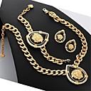 abordables Maquillage & Soin des Ongles-tête de lion u7® plaqué 18k or véritable strass ensemble de bijoux de méduse