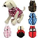 Недорогие Товары для ухода за собаками-Кошка Собака Плащи Жилет Одежда для собак камуфляж Бант Красный Зеленый Синий Розовый Красный/Белый Хлопок Костюм Для домашних животных