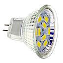 baratos Luminárias de LED  Duplo-Pin-GU4(MR11) Lâmpadas de Foco de LED 9 SMD 5730 430 lm Branco Quente Branco Frio DC 12 V