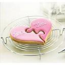 preiswerte Ringe-2 stücke kombiniert halb herz cookies cutter hochzeit liebhaber kuchenform