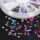 ieftine Materiale Pentru Artizanat-600pcs pietre colorate pătrat colorat piatră acrilice manual diy material ambarcațiunile / accesorii de îmbrăcăminte