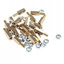 ieftine Accesorii-alamă cu filet stand-off piloni șurubul hexagonal cu nuci (m3 x 10mm + 6/20 piese)