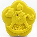 preiswerte Backzubehör & Geräte-Trojaner Kaninchen Baby förmigen Fondantkuchen Schokoladensilikonform Kuchendekorationswerkzeuge, l8.6cm * w8.6cm * h3.1cm