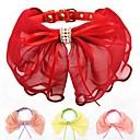 preiswerte Hundehalsbänder, Geschirre & Leinen-einstellbare PU-Leder Chiffon- Bowknot verziert Kragen für Hunde (farblich sortiert)