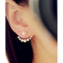 abordables Boucles d'Oreille-Femme Boucles d'oreille goujon - Perle Blanc Pour Mariage Soirée Quotidien