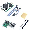 abordables Modules-MAX7219 point rouge module de matrice et accessoires pour Arduino