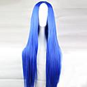 preiswerte Hundespielsachen-Synthetische Perücken Glatt Asymmetrischer Haarschnitt Synthetische Haare 28 Zoll Natürlicher Haaransatz Blau Perücke Damen Lang Kappenlos Hellblau