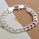 preiswerte Ohrringe-Herrn Ketten- & Glieder-Armbänder - versilbert Armbänder Für Weihnachts Geschenke Hochzeit Party