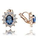 preiswerte iPhone Hüllen-Damen Kristall Klips - Krystall, Zirkon, Kubikzirkonia Blume Rot / Blau Für Hochzeit Party Alltag / vergoldet