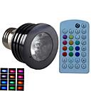 preiswerte Perlen & Perlenstickerei-E14 GU10 B22 E26/E27 LED Spot Lampen MR16 1 Leds Hochleistungs - LED Abblendbar Geräusch aktiviert Ferngesteuert Dekorativ RGB 500lm