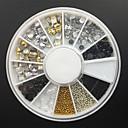 hesapli Makyaj ve Tırnak Bakımı-1 pcs Nail Jewelry / Dekorasyon Setleri Soyut / Punk / Moda Günlük Tırnak Tasarımı Tasarımı / Arkilik / Metal / ABS
