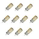 cheap LED Bi-pin Lights-10pcs 1.5W 100 lm G4 LED Corn Lights T 24 leds SMD 2835 Dimmable Warm White Cold White DC 12V