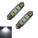 저렴한 다양한 LED 조명-2pcs 1 W 60 lm 3 LED 비즈 SMD 5050 차가운 화이트 12 V / 2개