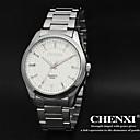 Χαμηλού Κόστους Ανδρικά ρολόγια-CHENXI® Ανδρικά Ρολόι Καρπού Καθημερινό Ρολόι Ανοξείδωτο Ατσάλι Μπάντα Πολυτέλεια Μαύρο