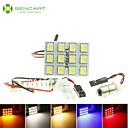 hesapli Araba İç Işıklar-SO.K G4 / T10 / Festoon Ampul SMD 5050 / Yüksek Performanslı LED 140-160 lm Dönüş Sinyali Işığı For Uniwersalny
