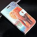 olcso Tartók-Case Kompatibilitás Samsung Galaxy Samsung Galaxy tok Kártyatartó Pénztárca Állvánnyal Flip Héjtok Elefánt PU bőr mert Trend Lite Trend