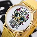 baratos Relógios Femininos-Mulheres Relógio de Moda Quartzo Lega Banda Analógico Flor Dourada - Dourado
